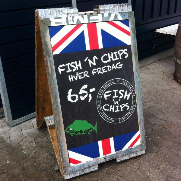 Print på gadesælger hos Fiskerikajen